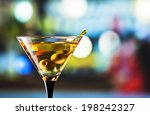glass with martini   focus on a ... | Shutterstock . vector #198242327