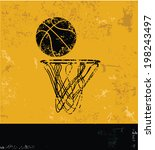 Basketball Symbol Grunge Design
