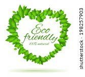 eco friendly label. natural... | Shutterstock .eps vector #198257903