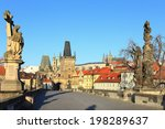 view on the prague castle with... | Shutterstock . vector #198289637