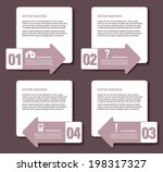 infographics numbered banners.... | Shutterstock .eps vector #198317327