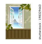 the view of window in the room  | Shutterstock .eps vector #198329663