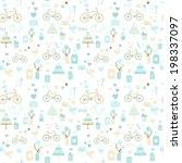 seamless wedding pattern in... | Shutterstock .eps vector #198337097