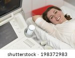 young woman in hospital being... | Shutterstock . vector #198372983