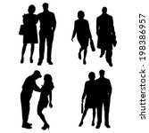 vector silhouette of a people... | Shutterstock .eps vector #198386957