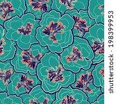beautiful vintage floral... | Shutterstock .eps vector #198399953