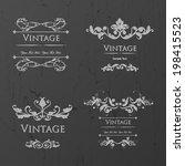 set of vintage floral frame.... | Shutterstock .eps vector #198415523