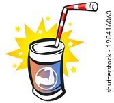 bank with sports energy drink ... | Shutterstock .eps vector #198416063