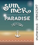 enjoy summer calling vector... | Shutterstock .eps vector #198425297