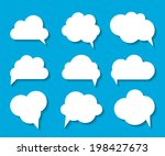 set of cloud shaped speech... | Shutterstock . vector #198427673