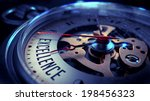 excellence on pocket watch face ... | Shutterstock . vector #198456323