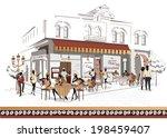 street musicians on the...   Shutterstock .eps vector #198459407