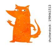 cartoon fox waving | Shutterstock .eps vector #198461513