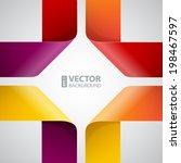 moebius origami colorful paper...   Shutterstock .eps vector #198467597