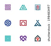 Professional business icon set digital age logo office package