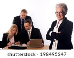 senior managerin with her team | Shutterstock . vector #198495347