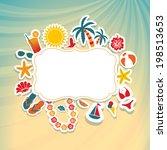summer holidays | Shutterstock .eps vector #198513653