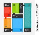 abstract modern flat dark... | Shutterstock .eps vector #198516827