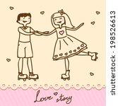 funny cartoon illustration of a ... | Shutterstock .eps vector #198526613