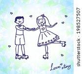 funny cartoon illustration of a ... | Shutterstock .eps vector #198527507
