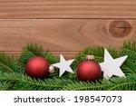 red xmas ornament | Shutterstock . vector #198547073