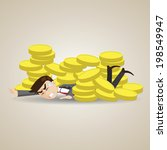 illustration of cartoon... | Shutterstock .eps vector #198549947