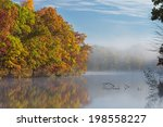 Autumn Shoreline Of Eagle Lake...