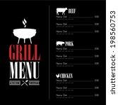 vintage barbecue menu | Shutterstock .eps vector #198560753