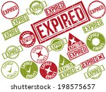 collection of 22 red and green... | Shutterstock .eps vector #198575657