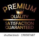 premium quality golden style... | Shutterstock .eps vector #198587687