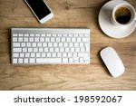 modern workspace  keyboard and  ... | Shutterstock . vector #198592067