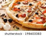 supreme pizza | Shutterstock . vector #198603383