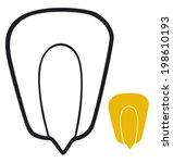 grain of corn  seed   | Shutterstock .eps vector #198610193