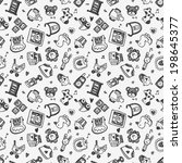 seamless doodle baby pattern... | Shutterstock .eps vector #198645377