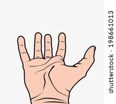 hand wide open illustration...   Shutterstock .eps vector #198661013