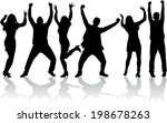 dancing silhouettes | Shutterstock .eps vector #198678263