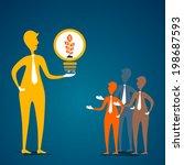 leader gift money plant in bulb ... | Shutterstock .eps vector #198687593