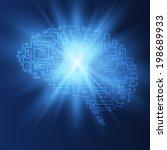 shiny brains vector background. ...   Shutterstock .eps vector #198689933