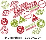 collection of 22 red grunge... | Shutterstock .eps vector #198691307