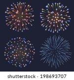 set of fireworks  eps 10... | Shutterstock .eps vector #198693707