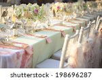 table setting for an wedding... | Shutterstock . vector #198696287