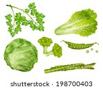 green vegetable organic food... | Shutterstock .eps vector #198700403