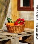 vegetables in the basket  ... | Shutterstock . vector #198712163