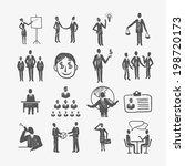 sketch business organization... | Shutterstock .eps vector #198720173