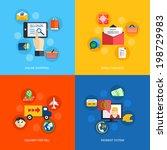 internet shopping online email... | Shutterstock .eps vector #198729983
