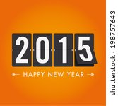 happy new year 2015  mechanical ... | Shutterstock .eps vector #198757643