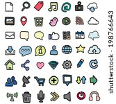 vector set of internet icon | Shutterstock .eps vector #198766643