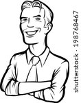 whiteboard drawing   smiling... | Shutterstock .eps vector #198768467