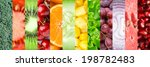 collage with different fruits ... | Shutterstock . vector #198782483
