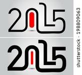 happy new year 2015 ... | Shutterstock .eps vector #198809063